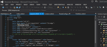 ASP.net MVC - Visual Studio